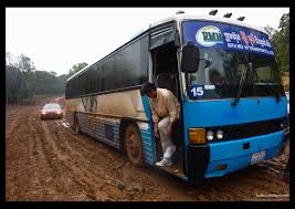 career change bus driver destination unknown once i ve mastered driving a bus on a tarmac road i don t need any additional skills to drive in mud as this driver proved to me on the way to mondulkiri