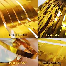 Amazon.com: <b>Foil</b> Fringe Curtain (SET of 2) <b>Gold</b> Party Backdrop ...