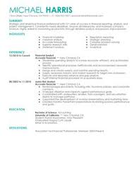 simple accounting  amp  finance resume examples   livecareeraccounting  amp  finance example