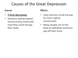 causes and effects of the great depression essay  wwwgxartorg causes and effects of the great depression essay