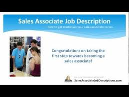 sales associate job description   youtube
