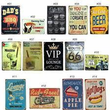 Metal <b>Tin Sign</b> Plaque Bar Pub <b>Vintage Retro Wall</b> Decor Poster ...