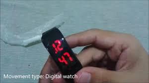 Men Women <b>LED Digital Bracelet</b> Watch BLACK - GearBest - YouTube