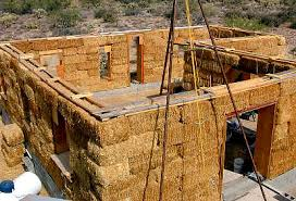 Strawbale home in the making