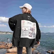 <b>NiceMix 2019</b> Spring Denim Coat Women Long Sleeve Plus Size ...