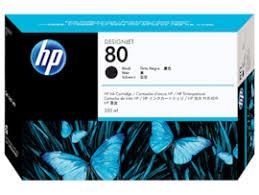 <b>HP 80</b> 350-ml Black DesignJet <b>Ink Cartridge</b>, C4871A (C4871A)