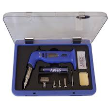 Hands Free Butane <b>Soldering Iron</b> Kit - Rhino <b>Electricians Tools</b>