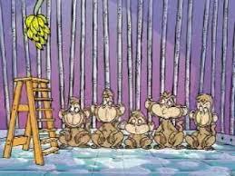 Resultado de imagem para macacos e bananas