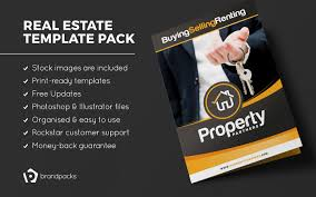 real estate brochure template pack brandpacks real estate brochure template pack