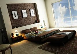 bedroom design idea: marvellous bedroom design ideas applying clear glass side wall furnished with brown furnitures of bed and