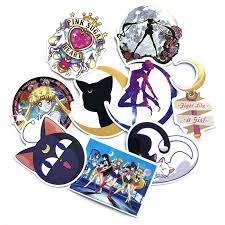 <b>9Pcs</b>/<b>set</b> Classics <b>Anime Sailor</b> Moon <b>Sticker</b> For Car Laptop ...