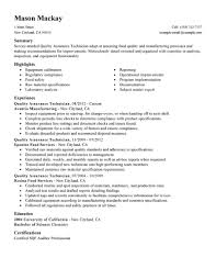 resume quality control technician resume printable of quality control technician resume
