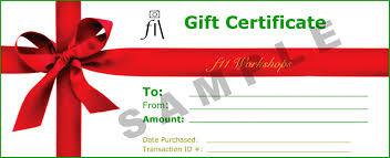 gift vouchers f workshops gift certificate