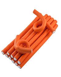Купить <b>Бигуди</b> (<b>бумеранги</b>) <b>оранжевые</b> 25 см х <b>17 мм</b> 12 шт Sibel ...