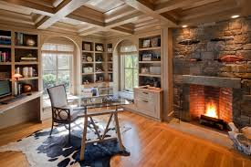 fireplace traditional home office and library atherton library traditional home office