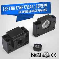 1 Set <b>BK17 BF17 Ballscrew End</b> Supports Bearing Unique ...