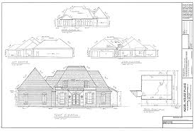 Kabel House Plans  About House PlansElevations for a Country French House plan