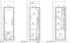 Bedroom House Plans With Basement   Narrow Two Story Row House     Bedroom House Plans With Basement   Narrow Two Story Row House Plans