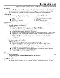 unforgettable medical equipment technician resume examples to    medical equipment technician resume sample