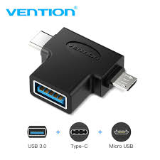 Vention CDIBO OTG Adapter <b>3 In 1</b> USB3.0 <b>Type</b>-<b>C Micro</b> USB USB ...