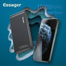 <b>Essager</b> 10000mAh <b>Power</b> Bank Slim USB 10000 mAh Powerbank ...