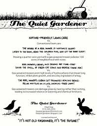 the quiet gardener click on flyer nature friendly lawn care vs click on flyer nature friendly lawn care vs conventional lawn care