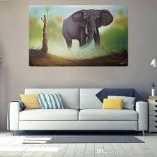 <b>Elephant Oil Painting</b> (100% Orignal <b>Handmade</b> On Canvas), Size ...