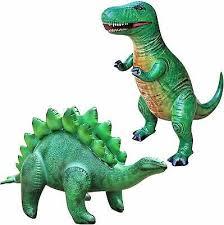 Jet Creations <b>T</b>-<b>Rex</b> Stegosaurus <b>Dinosaur Inflatable</b> 2 Pack for Pool ...