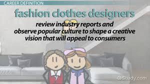 fashion clothes designer job description employment information