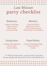 last minute party checklist fantabulosity last minute party checklist