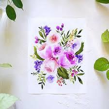 All the <b>Purple Flowers</b> Watercolor Kit - Let's Make Art
