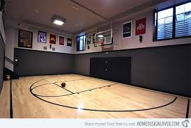 Ideas for Indoor Home Basketball Courts   Home Design Loverathletic court