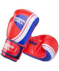 <b>Перчатки боксерские Green</b> Hill Knockout BGK-2266 10oz красный