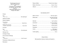 wedding ceremony samples vita wedding wedding program sample template doc