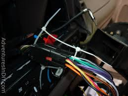 ford f 150 factory radio uninstall and new radio install Orange Wire On Radio Harness securing wiring harnesses with zip ties orange wire on stereo harness