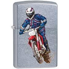<b>Зажигалка Zippo</b> Classic <b>207 Dirt Bike 2</b> Street Chrome купить ...