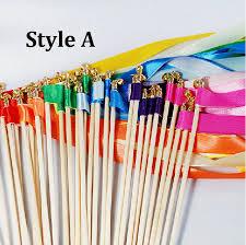 <b>Free shipping 50pcs /lot</b> Multicolour Wedding Ribbon Stick ...