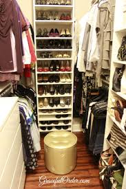 master closet organization organizational skills master closet organization move shoe box to side add mirror at end of closet take clothes all the way back to maximize corner space