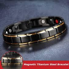<b>2020</b> Therapeutic Energy Healing Bracelet Stainless <b>Steel</b> Magnetic ...
