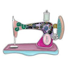 <b>Bonsny Statement Enamel Alloy</b> Rhinestone Sewing Machine ...