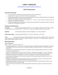 free senior programmer resume template download programmer resume game programmer resume