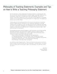 faculty focus special report philosophy of teaching statements philosophy of teaching statements examples