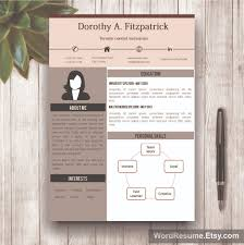 creative cv template cover letter and references word resume template mockup 17