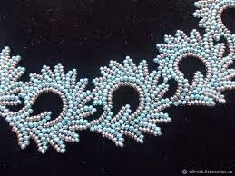 """Ожерелье """"Голубые завитки"""" – заказать на Ярмарке Мастеров ..."""