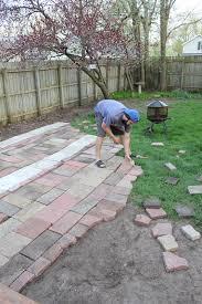 reused brick patio