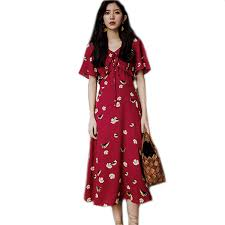 Wholesale women's flower dress 2019 <b>summer new seaside holiday</b> ...