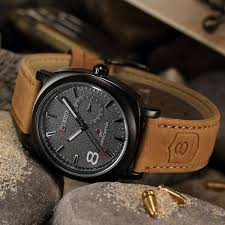 <b>Curren</b> Men's Leather Strap Sport <b>Military Army Quartz</b> Wrist Watch ...