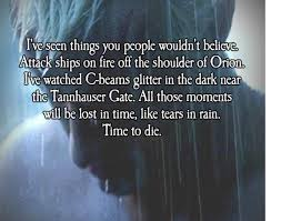 Movie Quotes on Pinterest | Blade Runner, Quotes About and Death via Relatably.com