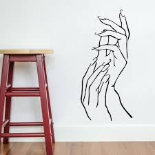 Small Picture Nail Hands Art Beauty Shop Store Business Wall Art Stickers Decal