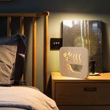 Christmas Wooden <b>Night Lamp USB Charging</b> Holiday Night Light ...